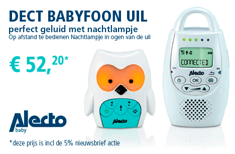 Alecto DECT Babyfoon uil -DBX 84