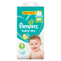 Pampers Baby Dry Maat 4 Maxi 9-14 kg Giga pack
