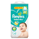 Pampers Baby Dry Maat 4+ Maxi+ 10-15 kg Giga pack