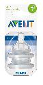 Avent Speen 2-gaats, 1M+, langzaam ( voor classic fles)