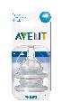 Avent Speen 3-gaats, 3M+, normaal ( voor classic fles)