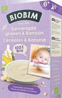 Biobim Gemengde granen & banaan 6+ mnd, Bio