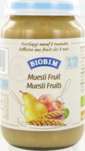 Biobim Muesli-fruit 8 mnd, Bio