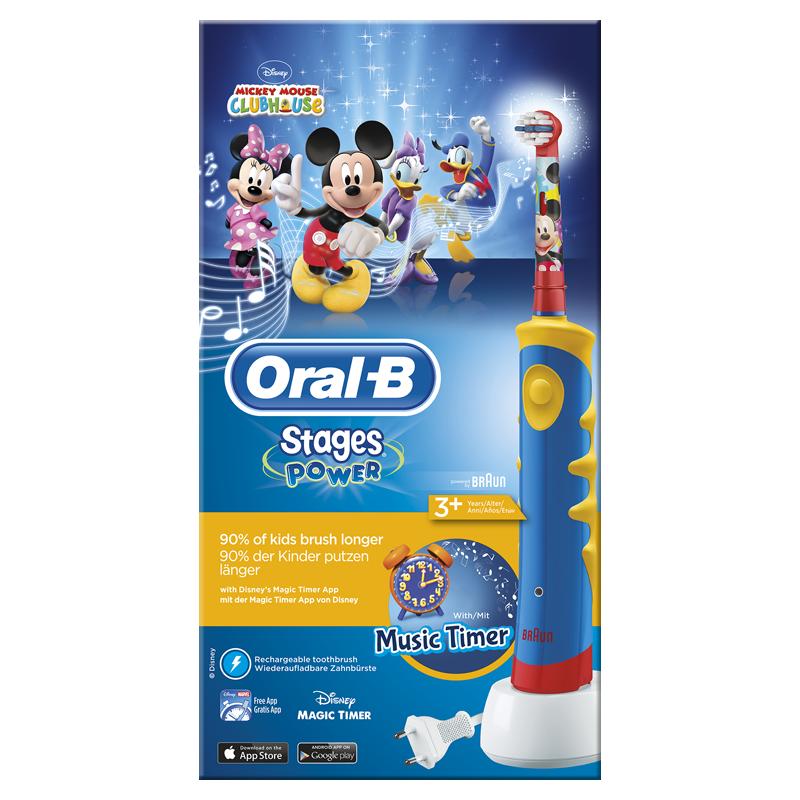 Stages Elektrische Tandenborstel met Mickey Mouse