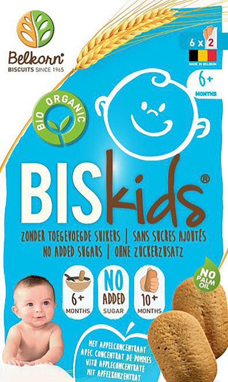 Babykoekjes BISkids 6 mnd appelsmaak, Bio