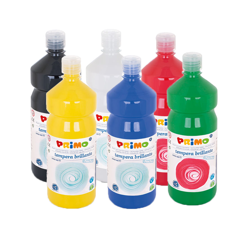 Schoolverf Set van 6 basis kleuren