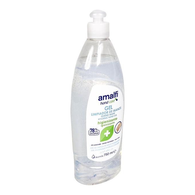 Amalfi Hygiënische Handgel met pomp 78% alcohol