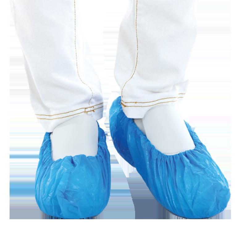 blauw schoenovertrek 75my