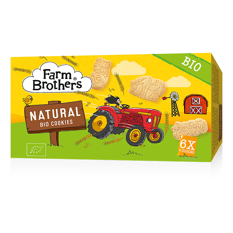 Farm Brothers Kids Cookies Natural, Bio